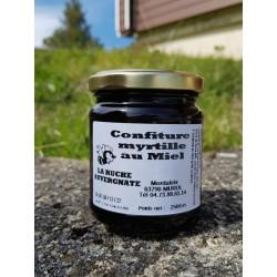 confiture myrtilles au miel 250g